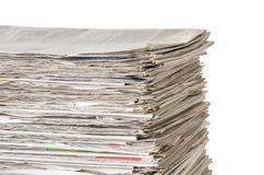 Newspapers on a white background Royalty Free Stock Photos