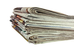 Newspapers (with Clipping Path) Stock Photos