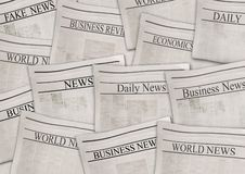 Free Newspapers With Headlines On Horizontal Surface. Old Newspaper Background Stock Photos - 155643103