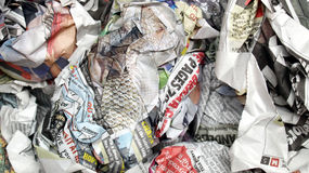 Newspapers wrap Stock Images