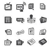 Newspeper icon set Stock Photography