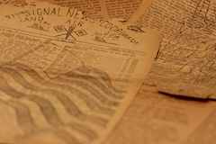 Newsprint Background6 do vintage Foto de Stock Royalty Free