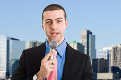 Newsreader Royalty Free Stock Photo