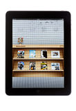 Newsstand on iPad Royalty Free Stock Photos
