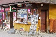 Newsstand at Krupowki street in Zakopane Stock Photos