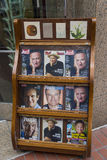 Newsstand with magazines with Robin Williams on front cover soon after his death, on the street of San Francisco Stock Image