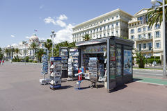Newsstand at the Promenade des Anglais Stock Photos