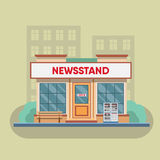 Newsstand selling newspapers and magazines. Royalty Free Stock Photography