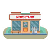 Newsstand selling newspapers and magazines. Royalty Free Stock Photo