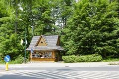Newsstand in Zakopane, Poland Stock Images