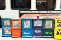 Newsstands with Philadelphia free newspapers Royalty Free Stock Photo