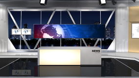 NewsStudio 100C1 (ώθηση) απεικόνιση αποθεμάτων