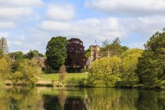 Newstead Abbey, with the Garden Lake Stock Photography