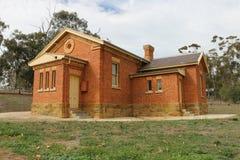 NEWSTEAD, VICTORIA, AUSTRALIË - het Hof Huis (1863) werd omgezet in een archief en een museum in 1957 stock foto's