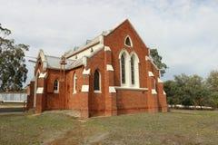 Newsteaden som förenar kyrkan, öppnade på September 15, 1907 som en metodistkyrka Arkivbild
