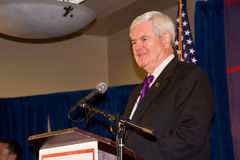 Newt Gingrich 2-24-2012 Federal Way, Washington Royalty Free Stock Image