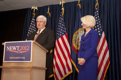 Newt Gingrich addresses supporters. Stock Photography