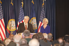 Newt Gingrich addressin supporters. Stock Photo