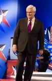 Newt Gingrich bij GOP Debat 2012 Royalty-vrije Stock Foto's