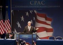 Newt Gingrich en CPAC 2011 Fotos de archivo libres de regalías