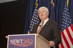 Newt Gingrich speaking at the podium. Royalty Free Stock Photos