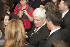 Newt Gingrish meets supporters. Royalty Free Stock Images