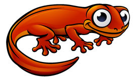 Newt or Salamander Cartoon Character. An illustration of a newt or salamander cartoon character Royalty Free Stock Images