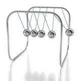 Newton´s cradle on white background Royalty Free Stock Photography