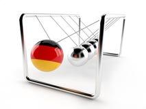 Newton balls with german flag Stock Photography