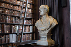 Newton bust in Trinity College. Isaac Newton marble bust in Trinity College Old Library in Dublin, Ireland Stock Photo