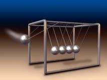 Newton cradle. Newton's cradle experiment. Digital illustration vector illustration