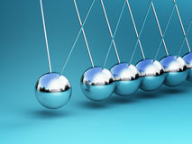 Newton cradle 3d Royalty Free Stock Image