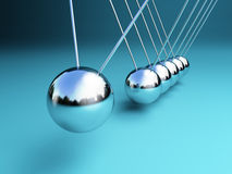 Newton cradle 3d Stock Photo