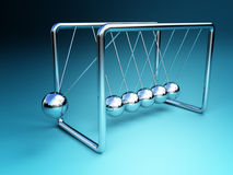 Newton cradle 3d Royalty Free Stock Photo