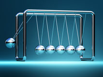 Newton cradle 3d Royalty Free Stock Images