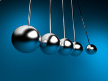 Newton cradle 3d ballancing Stock Photography
