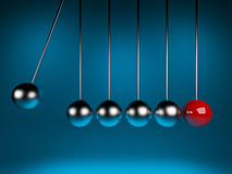 Newton cradle 3d ballancing Royalty Free Stock Photos