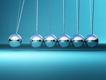 Newton cradle background Stock Image