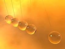 Newton cradle pendulums. A transparent newton cradle pendulums Royalty Free Stock Image