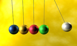 Newton cradle pendulums Stock Photography