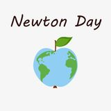 Newton day illustration Royalty Free Stock Photo