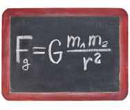 Newton gravity law Royalty Free Stock Photos