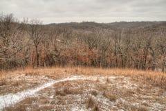 Newton Hills é um parque estadual no estado de South Dakota americano perto de Sioux Falls Imagem de Stock