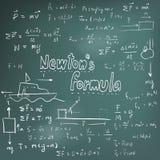 Newton lagteori och likställande för matematisk formel för fysik, doo Royaltyfri Fotografi