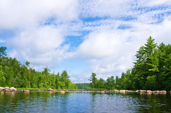 Newton lake, bwcaw, minnesota Stock Photos