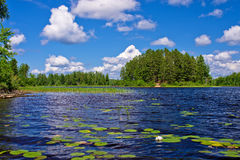 Newton lake, bwcaw, minnesota Royalty Free Stock Images