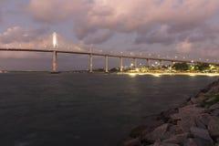 Newton Navarro Bridge, Geboorte, RN, Brazilië royalty-vrije stock afbeeldingen