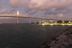 Newton Navarro Bridge, natal, RN, Brésil Images libres de droits