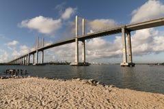 Newton Navarro Bridge, natal, RN, Brésil Photographie stock libre de droits