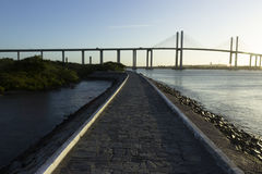 The Newton Navarro Bridge, Natal, RN, Brazil. The Newton Navarro Bridge, is one of the biggest cable-stayed bridges in Brazil. It is located in the city of Natal Stock Images